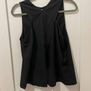 Black open-back wrap top